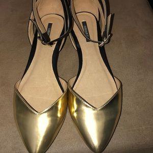 Dressy Ankle Strap Flats